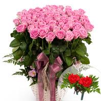 꽃바구니+코사지2개(꽃행복350호)